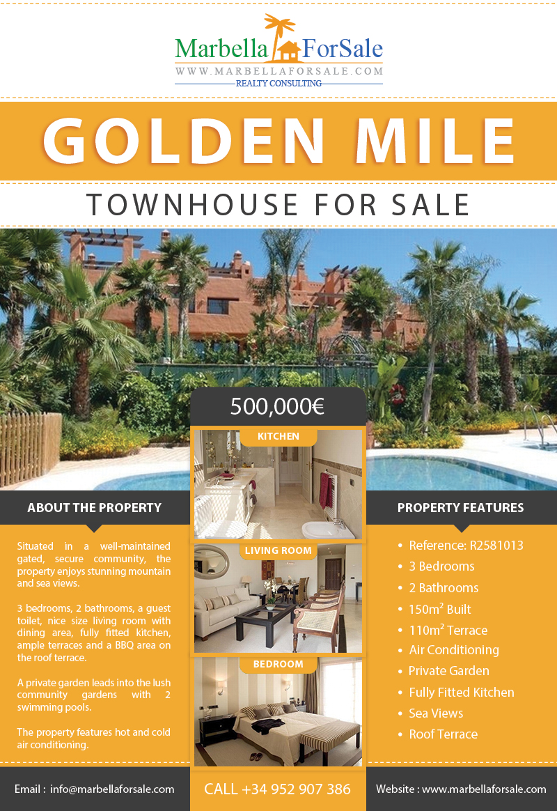 Townhouse For Sale on Marbella's Golden Mile