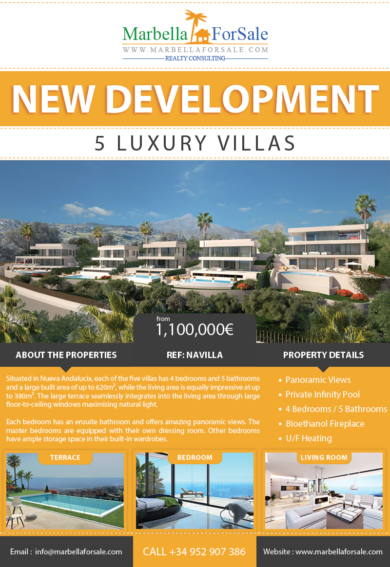 5 Luxury Villas For Sale in Nueva Andalucia