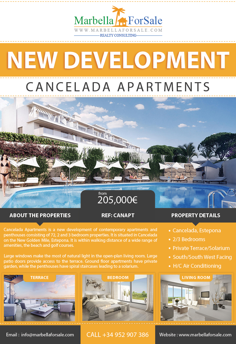New Apartments For Sale in Cancelada