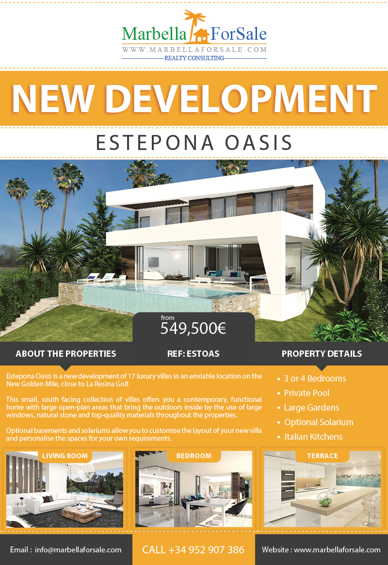 Estepona Oasis - New Villas For Sale