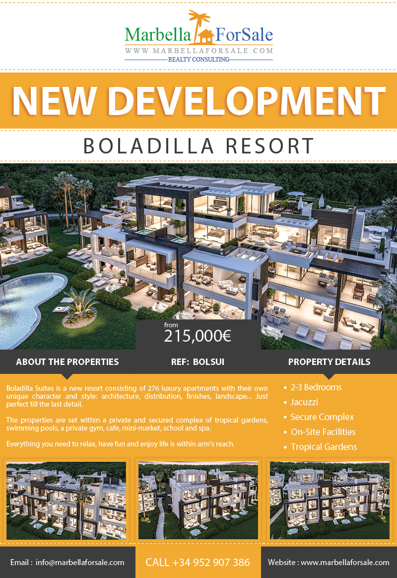 New Luxury Apartments For Sale in Estepona