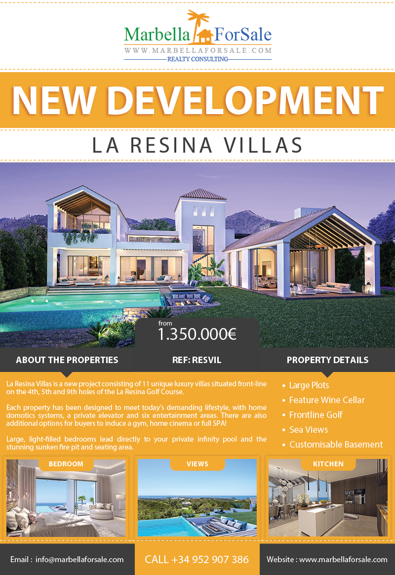 New luxury villas for sale in Estepona