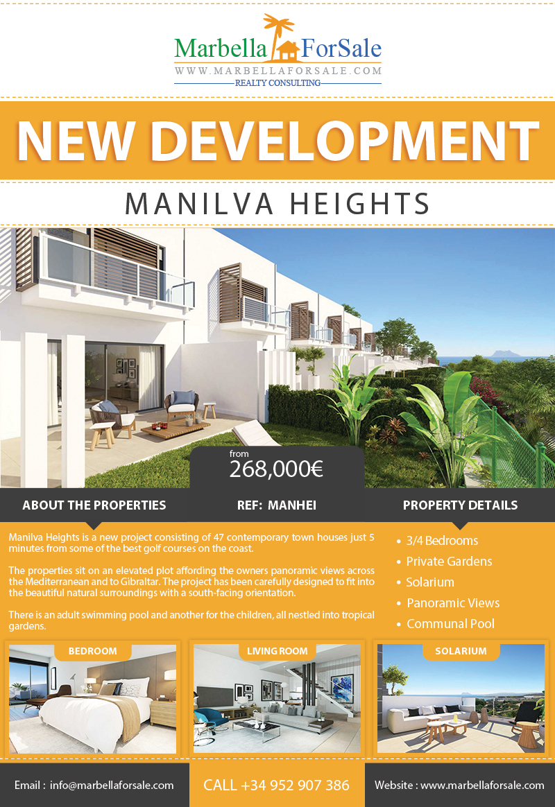 New town houses for sale in Manilva