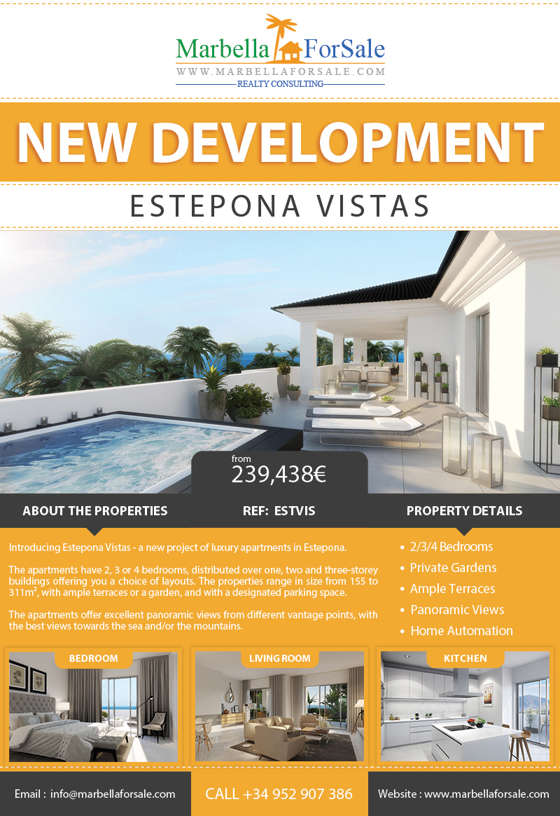 New apartments for sale in Estepona