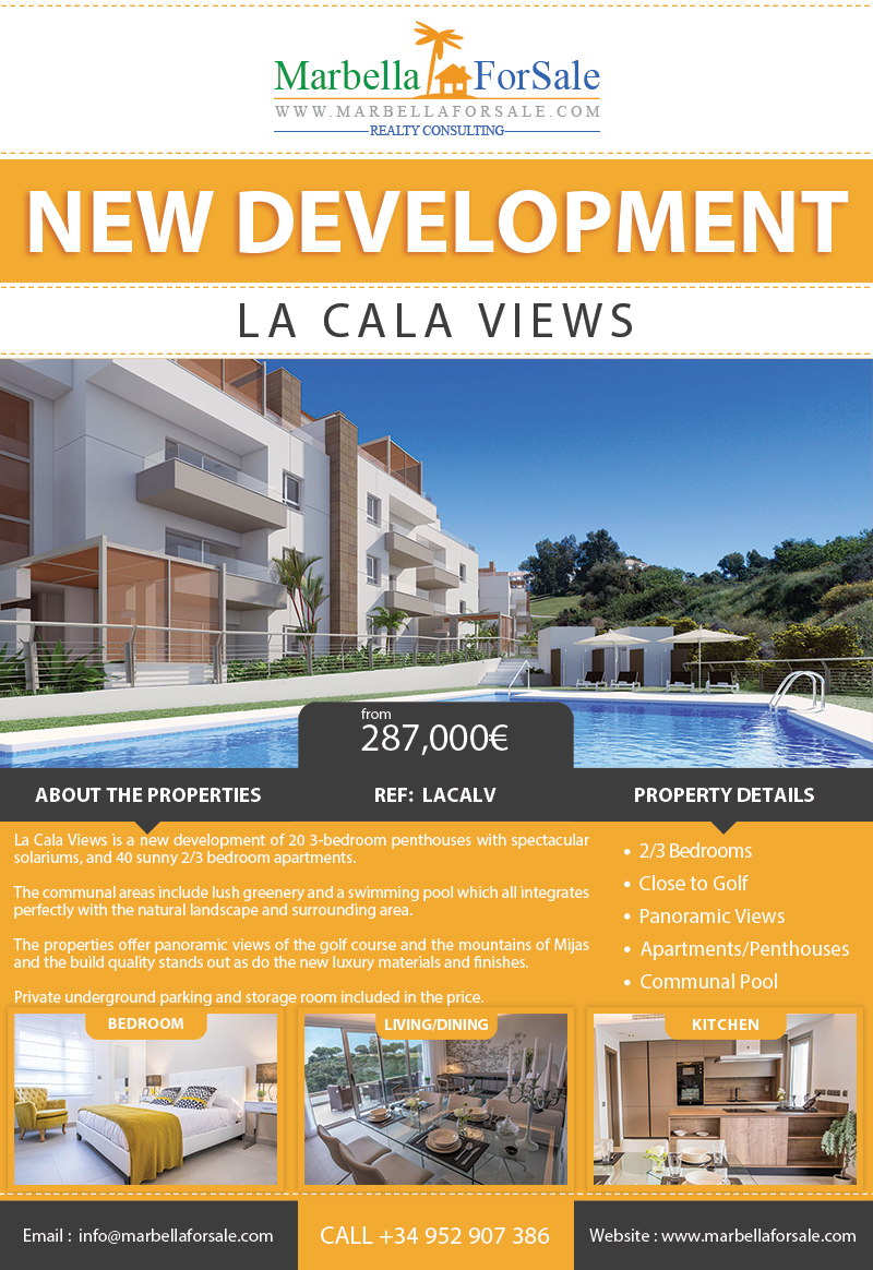 New Apartments For Sale in La Cala de Mijas