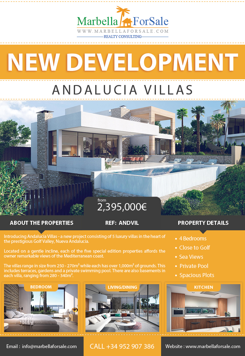 New Development of Luxury Villas For Sale