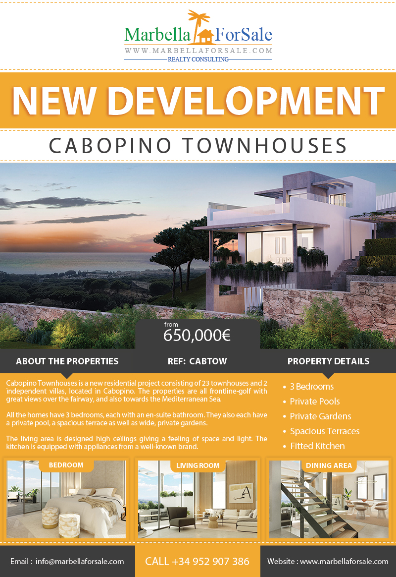 New Townhouses For Sale in Cabopino