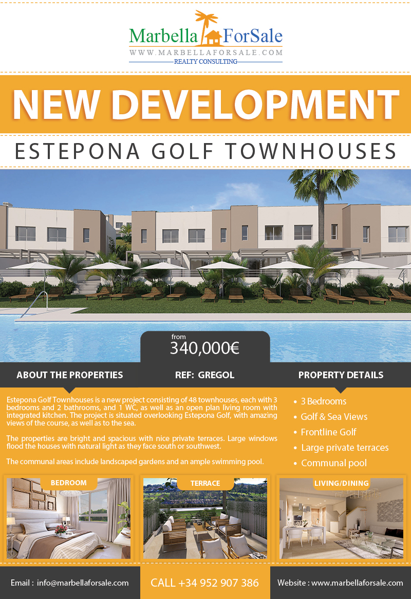 New Townhouses For Sale in Estepona