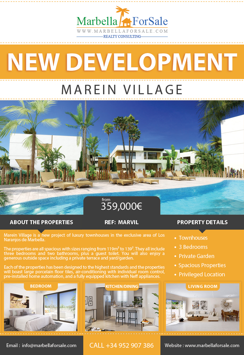 New Townhouses For Sale in Marbella