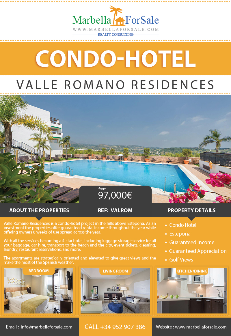 Condo-Hotel Apartments For Sale - Estepona