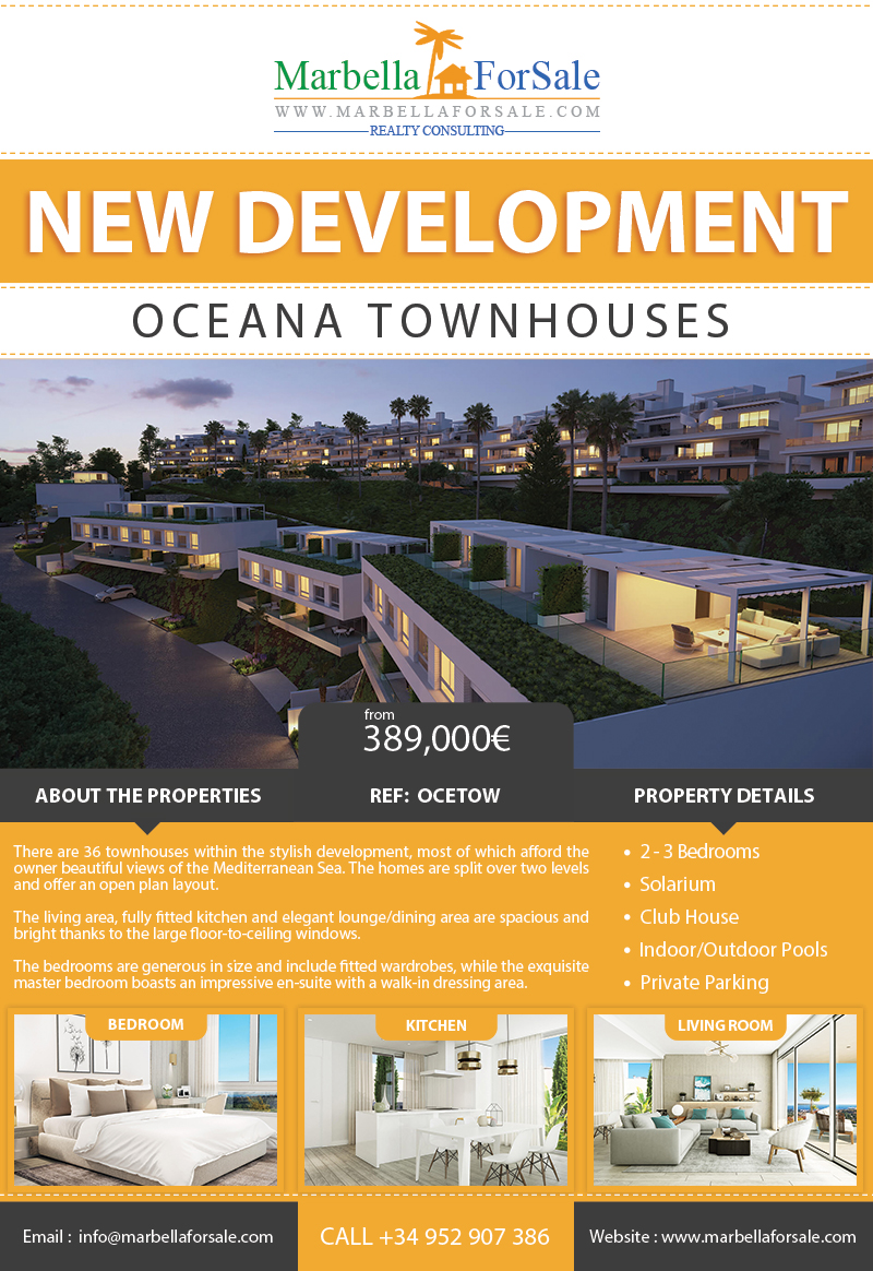 Oceana Townhouses – New Homes For Sale in Estepona