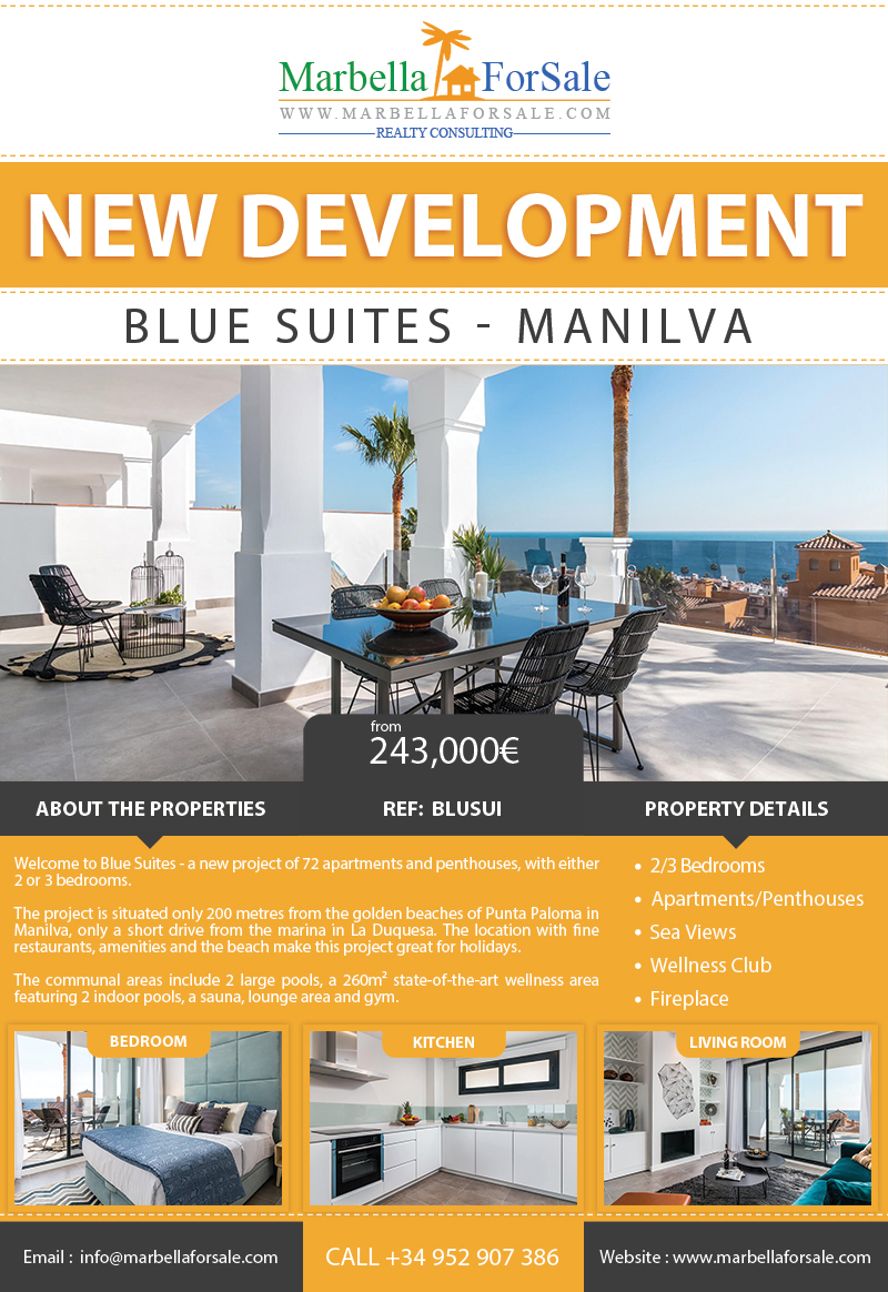 New Apartments For Sale in Manilva