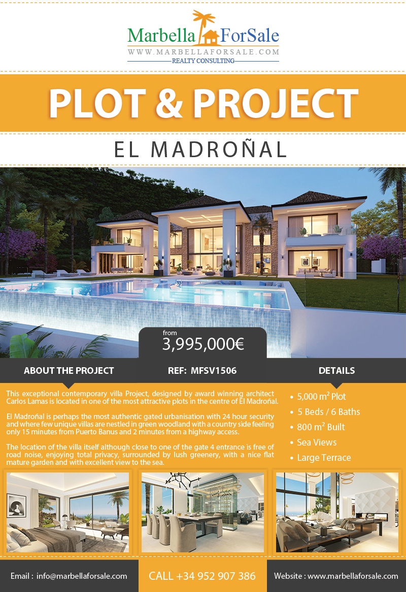 Large Plot with Villa Project For Sale - El Madroñal