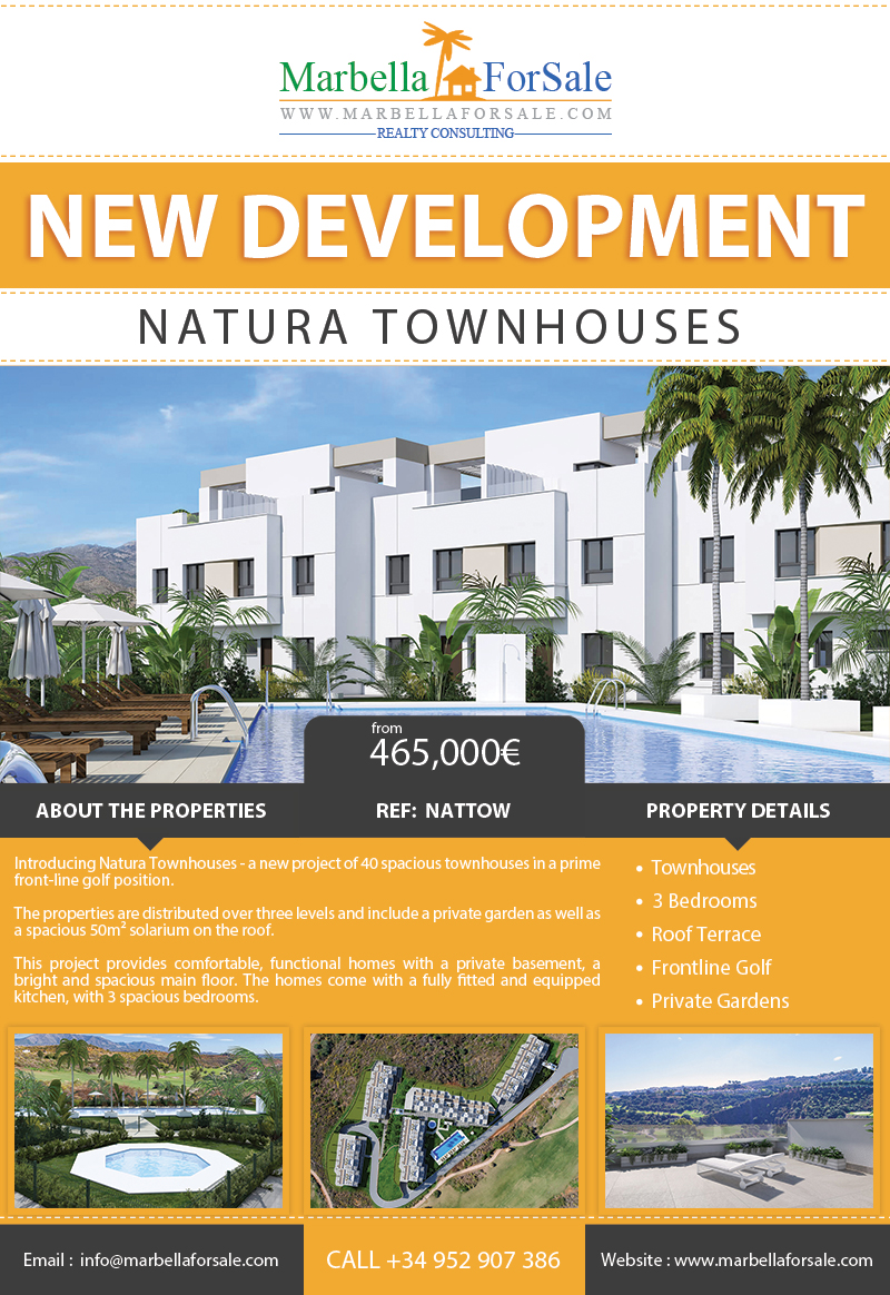 Brand New Townhouses For Sale - La Cala Golf