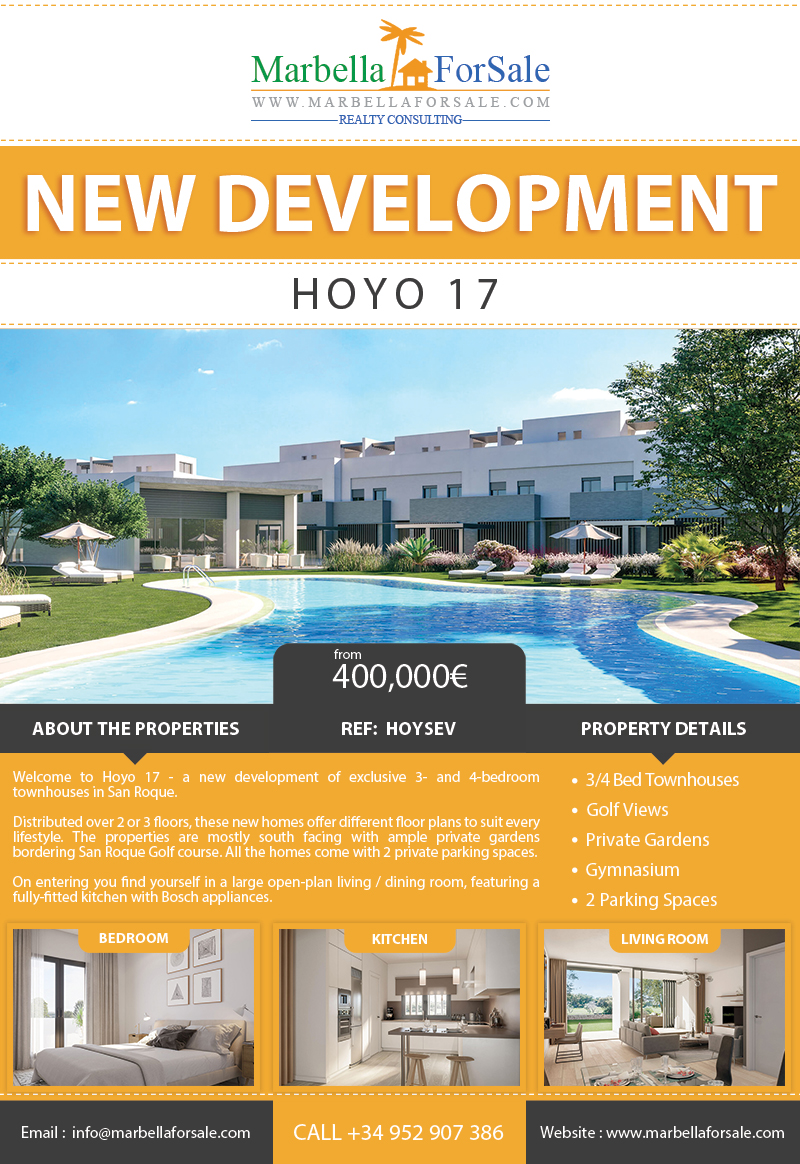 New Townhouses For Sale in San Roque