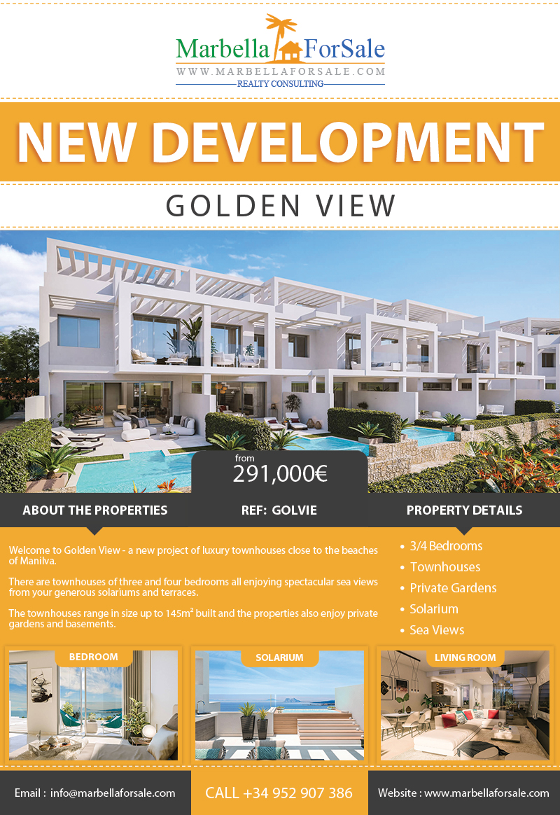 New Townhouses For Sale in Manilva