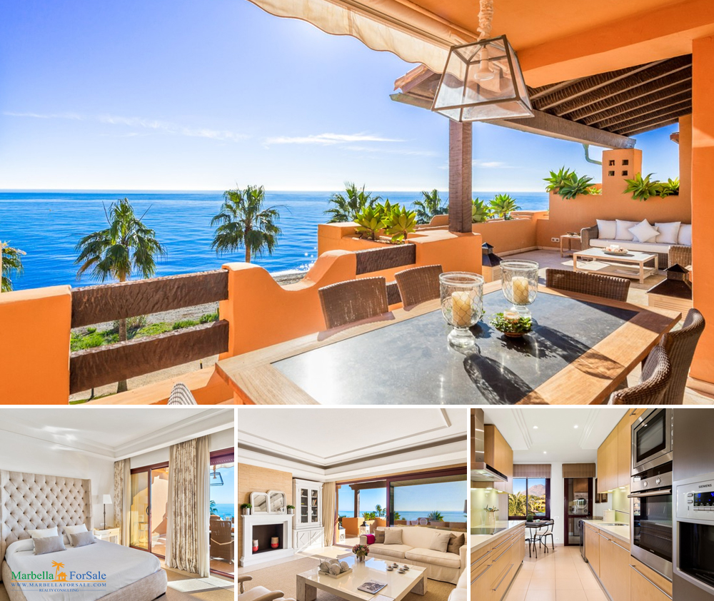 Stunning Beachfront Apartment For Sale in Estepona