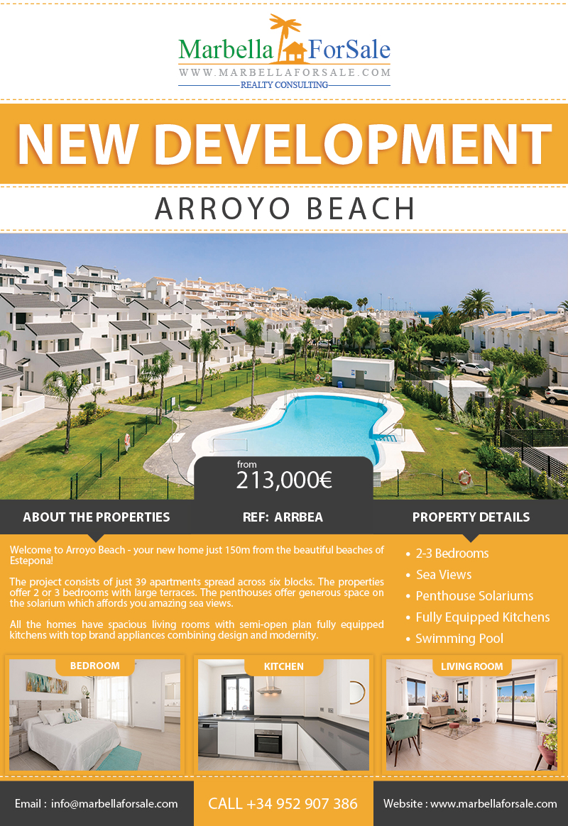 Arroyo Beach - New Homes in Estepona