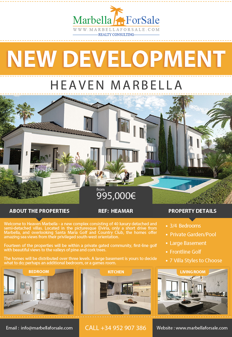 Heaven Marbella - New Property in Elviria
